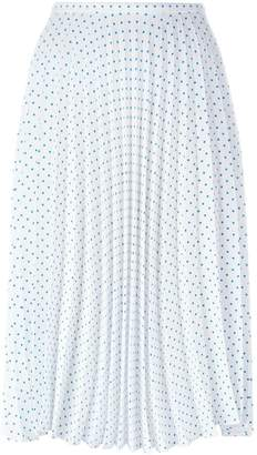 J.W.Anderson polka dot pleated skirt