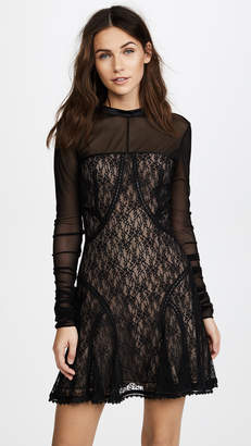 Alexander Wang Lace Paneled Dress with Ladder Trim Detail