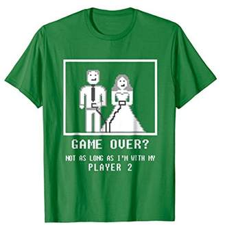 8Bit Pixel Geek Game Over Player 2 Wedding Shirt
