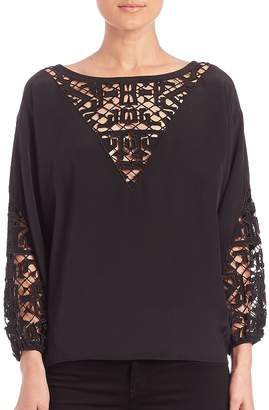 Townsen Women's Embroidered Peasant Top