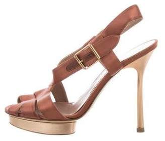 Emporio Armani Satin Slingback Sandals