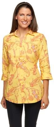 Liz Claiborne New York Button Down Paisley Printed Tunic