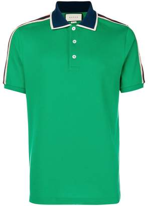 Gucci side striped polo shirt