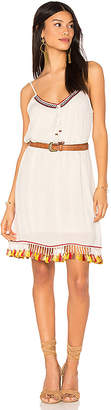 Band of Gypsies Tassel Trim Belted Shift Dress in Ivory $79 thestylecure.com
