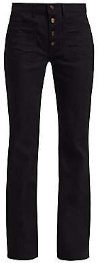Saint Laurent Women's Patch Pocket Flare Jeans