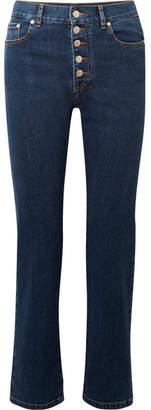 Joseph Den High-rise Straight-leg Jeans - Mid denim