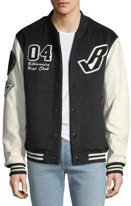Billionaire Boys Club Men's Cotton Letterman's Jacket