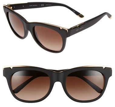 Tory BurchWomen's Tory Burch 53Mm Gold Trimmed Sunglasses - Gold Black