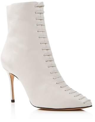 Schutz Women's Hayden Pointed Toe Leather High-Heel Booties