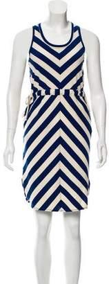 WHIT Knee-Length Striped Dress