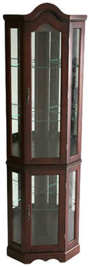 Red Barrel Studio Glacier Lighted Corner Curio Cabinet