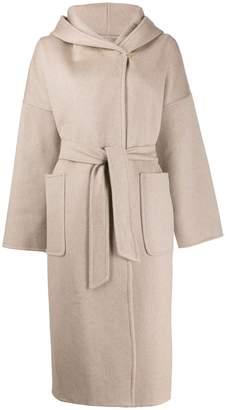 Max Mara hooded wrap coat