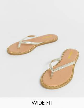 6ee794d03bc76e Simply Be Extra Wide Fit Simply Be extra wide fit zenda studded sole flip  flop