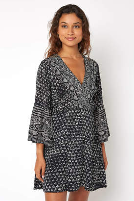 Billabong Divine Wrap Printed Mini Dress