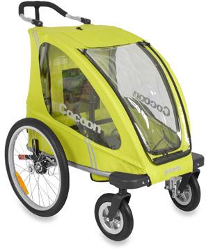 Joovy Cocoon Single Stroller & Accessories (Greenie)