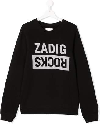 Zadig & Voltaire Kids TEEN Zadig Rocks print sweatshirt