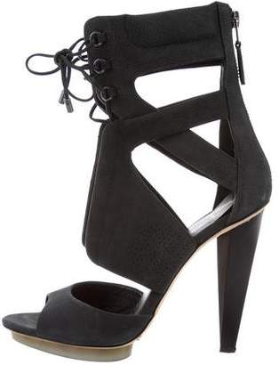 Brian Atwood Nubuck Cage Sandals $150 thestylecure.com