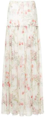 Giambattista Valli floral print maxi skirt