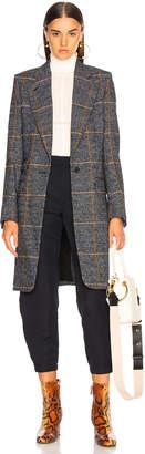 Chloé Prince de Galles Wool Mix Check Coat