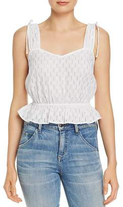 The Fifth Label Binocular Perforated Peplum Tank