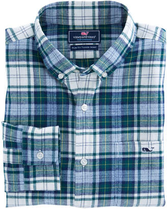 Vineyard Vines Hayward Point Plaid Performance Flannel Slim Tucker Shirt