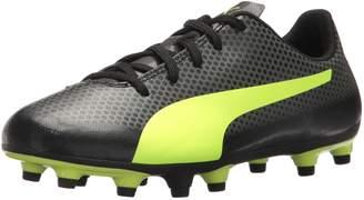 Puma Unisex-Kids Spirit FG Soccer-Shoes, White Black-Paradise Pink
