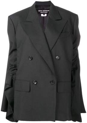 Junya Watanabe gathered sleeve blazer