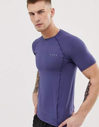 Asos 4505 4505 muscle training t-shirt with quick dry in slate blue
