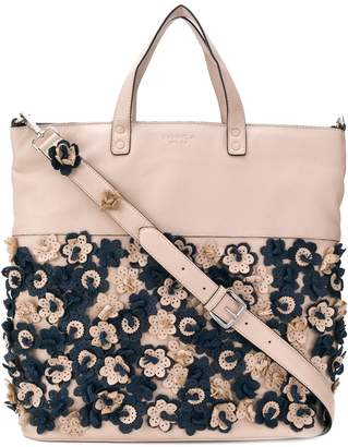 Tosca perforated flower tote