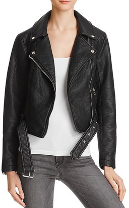 Eleven Paris Faux Leather Moto Jacket $198 thestylecure.com