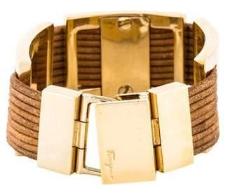 Salvatore Ferragamo Leather Cord Bracelet