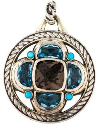 David Yurman Smoky Quartz, Topaz & Turquoise Renaissance Half-Moon Enhancer