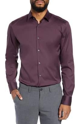 BOSS Jenno Slim Fit Stretch Solid Dress Shirt