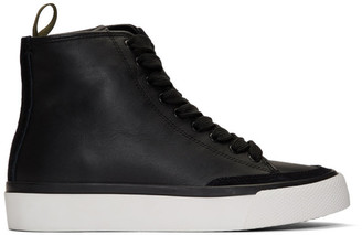 Rag & Bone Black RB High-Top Sneakers