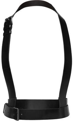 Ann Demeulemeester Leather Harness - Black
