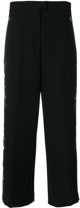 VIVETTA floral embroidered wide leg trousers