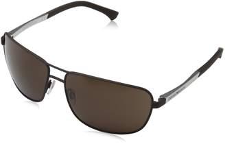 Emporio Armani Metal Square Sunglasses in Rubber EA2033 313273 64 64