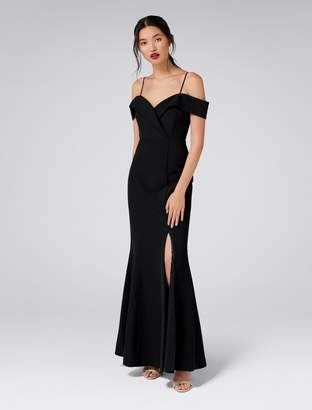 Forever New Sara Off-Shoulder Gown - Black - 6