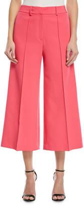 Milly Hayden Flare-Leg Crop Trousers