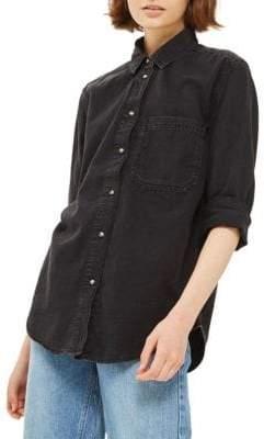 Topshop MOTO Oversized Denim Shirt
