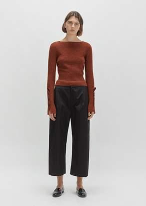 Marni Cotton Wide-Leg Trouser Black