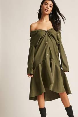 Forever 21 Flounce Hem Drop Waist Dress