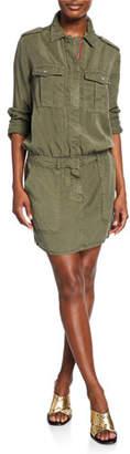 Etienne Marcel Zip-Front Military Dress