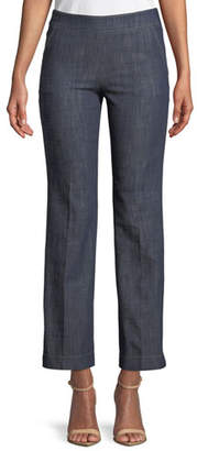 Giorgio Armani Straight-Leg Crop Denim Trousers with Side Zip