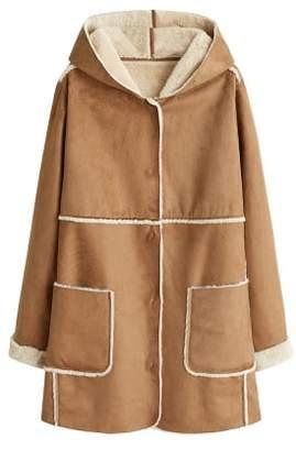 Violeta BY MANGO Faux-fur lining coat