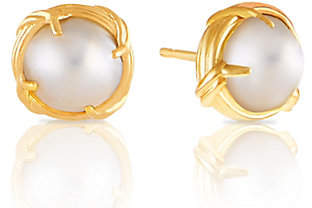 Peter Thomas Roth 18K Gold and Mabe PearlButton Earrings