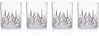 Q Squared Aurora Clear Double Old-Fashioned Tumblers, Set of 4