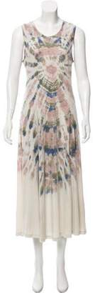 Raquel Allegra Tie-Dye Midi Dress w/ Tags
