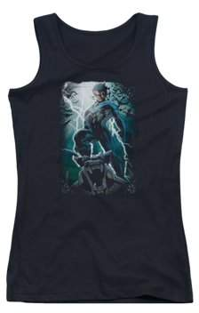 Batman Night Light Juniors Tank Top Shirt