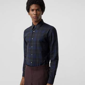 Burberry Slim Fit Tartan Cotton Shirt